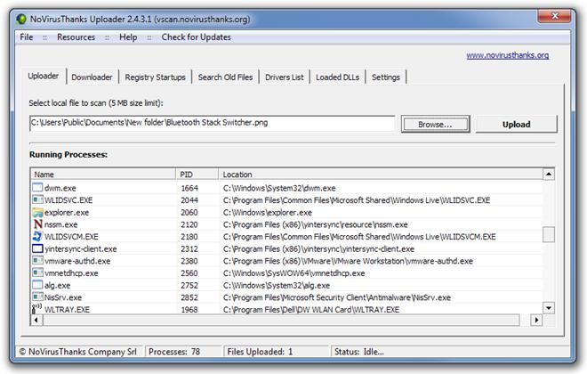 NoVirusThanks Uploader 2.4.3.1 (vscan.novirusthanks.org)