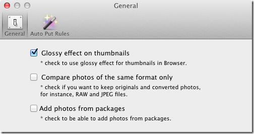 PhotoSweeper preferences