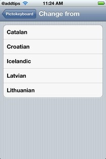 Pictokeyboard Replacable Languages
