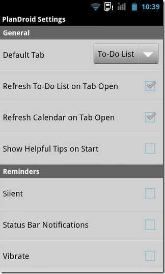 PlanDroid-Android-Settings