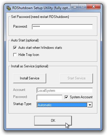 RDShutdown Setup Utility (fully optional)