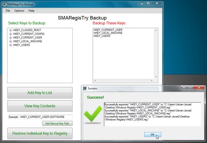 SMARegisTry Backup 2