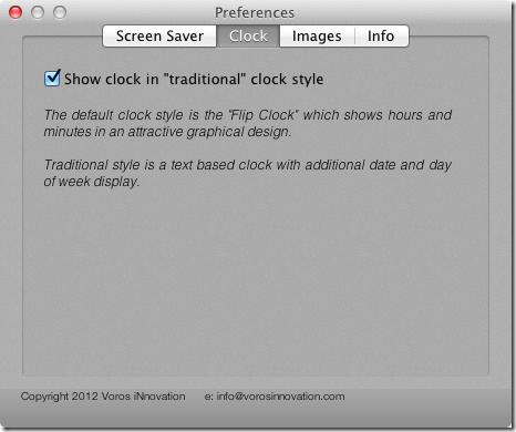 Screensaver   clock
