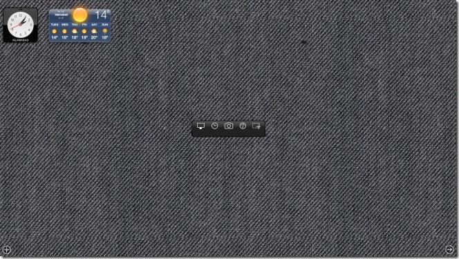 Screenshot Plus Widget dashboard