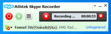 Skype Recorder Interface