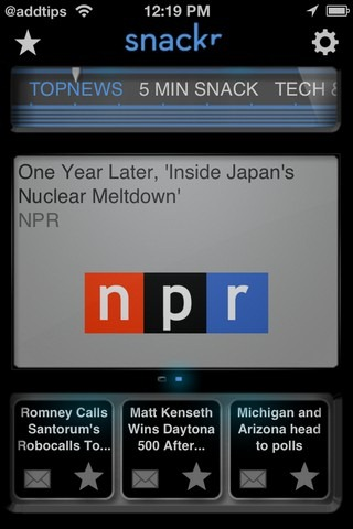 Snackr Top News