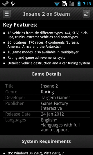 Steam-Android-About-Game