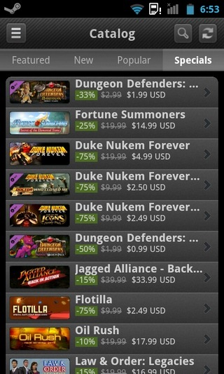 Steam-Android-Catalog-Specials