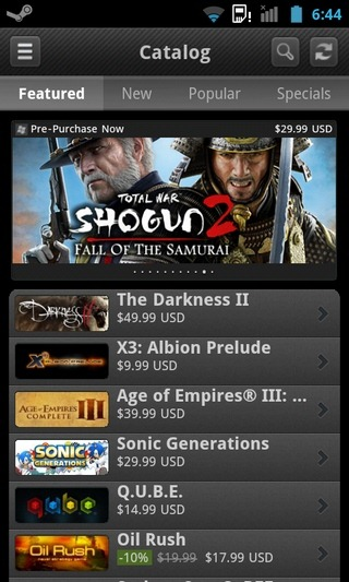 Steam-Android-Catalog
