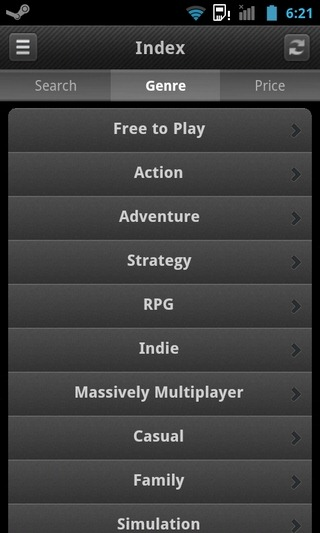 Steam-Android-Categories