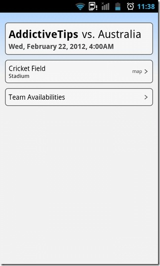 TeamSnap-Android-Schedule