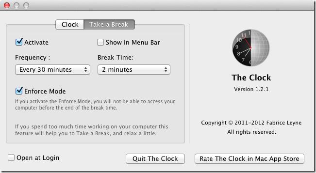 The Clock break