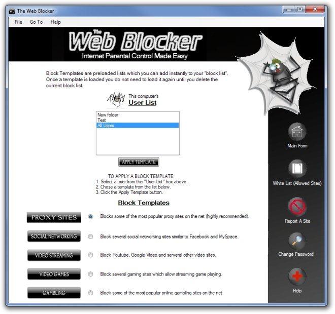 The Web Blocker Templates