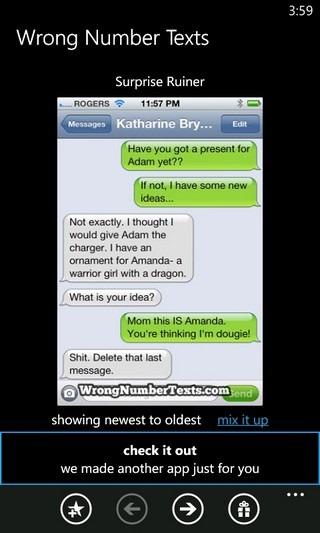 Wrong Number Texts WP7