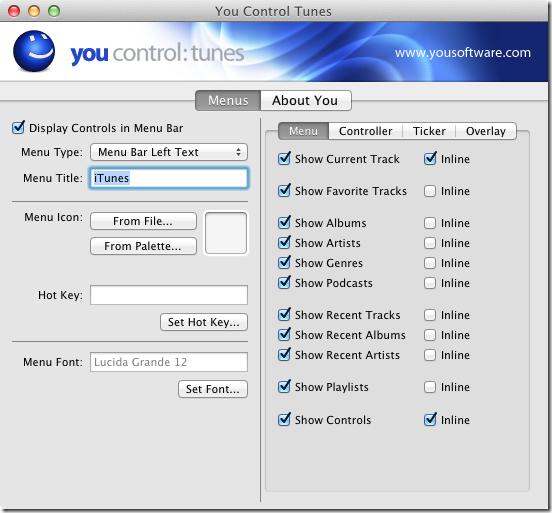 You Control configure