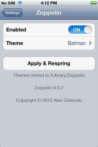 Zeppelin Menu