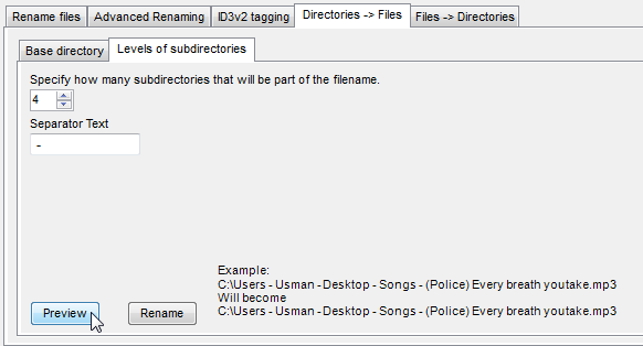 directory files