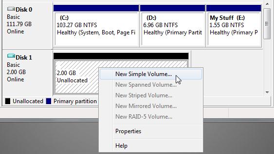 format drive 1