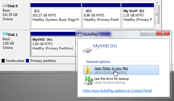 formatted vhd