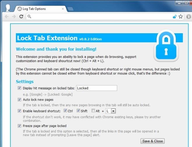 lock tab options