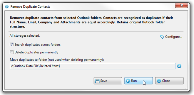 Automatically Remove Duplicate Contacts From Outlook 2010 Folders [Add-in]