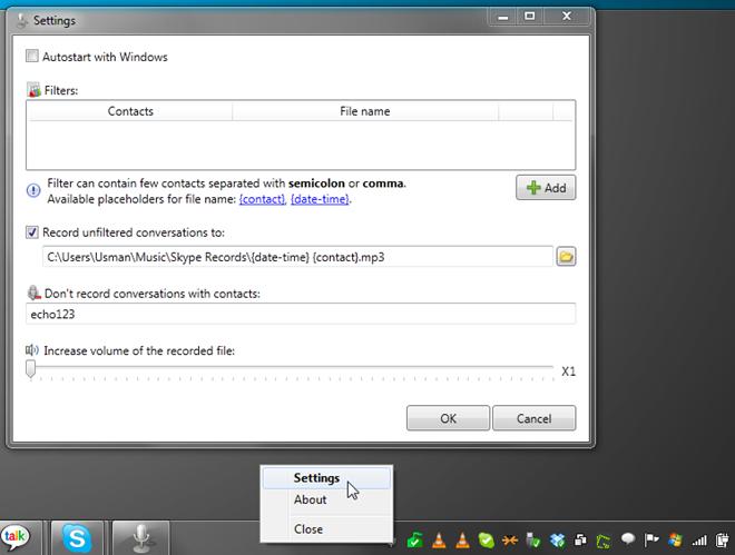 settings skype 3