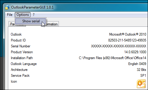 OutlookParameterGUI: 30 Switches To Run Outlook In Required Mode