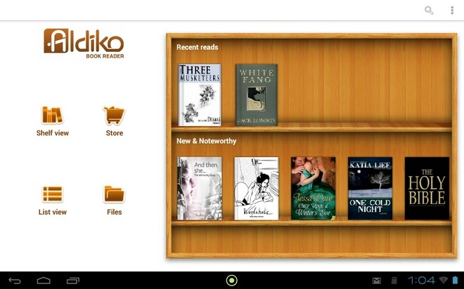 Aldiko-Reader-Android-Update-Home