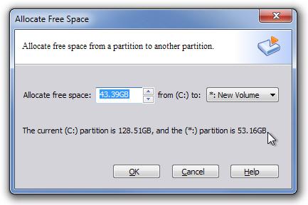 Allocate Free Space