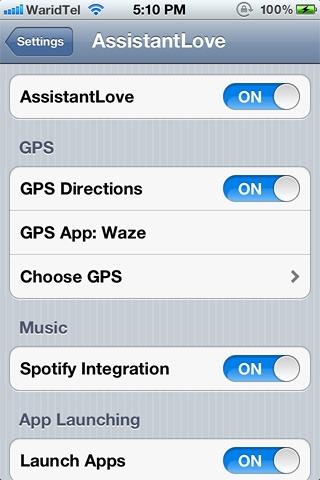 AssistantLove-Spotify-&-GPS-App-Integration
