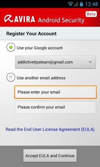 Avira-Android-Register