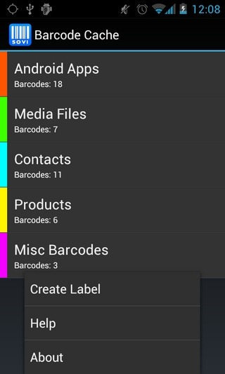 Barcode-Cache-Android-Home