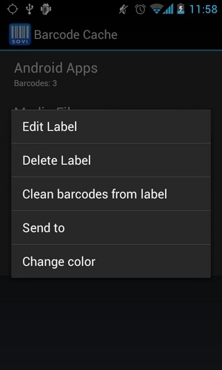 Barcode-Cache-Android-Menu