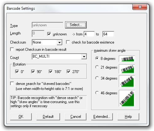 Barcode Settings