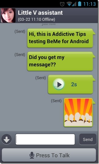 BeMe-Android-Chat