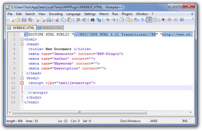CUsersTestAppDataLocalTempNPPPluginNFBB63C.HTML - Notepad