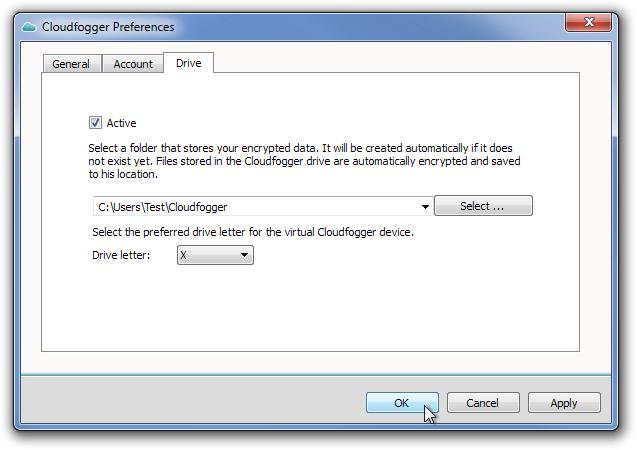 Cloudfogger Preferences