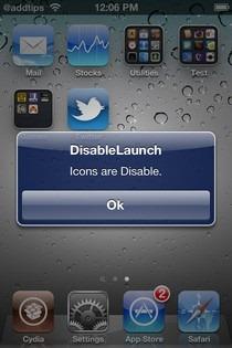 DisableLaunch Cydia
