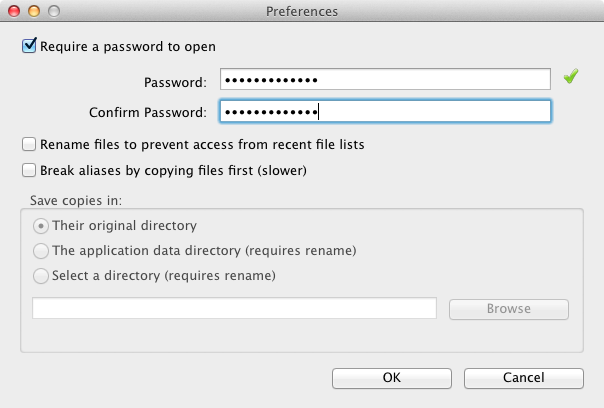 Easy File Hider preferences
