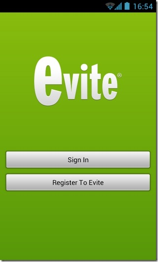 Evite-Android-Login