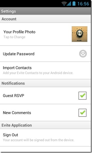 Evite-Android-Settings