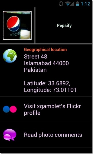 Flickr-Earth-Android-Info