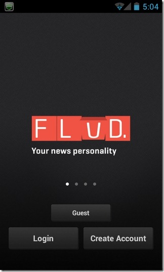 Flud-News-Android-Login