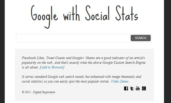 Google Search with Social Analytics