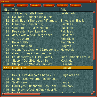 Hanso Player Playlist