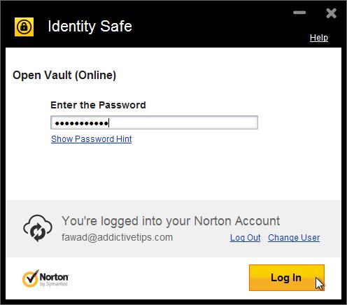 Identity Safe Vault open login