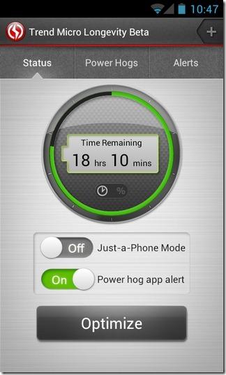 Longevity-Battery-Saver-Status