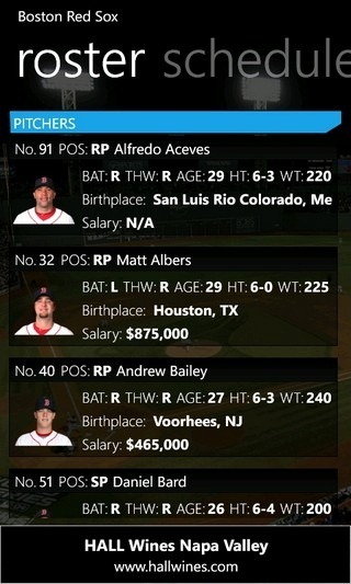 MLB Pro '12 Roster