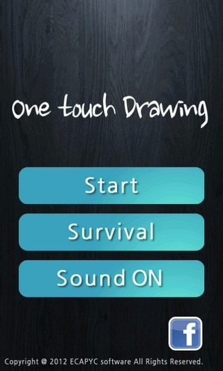 One Touch Drawing homescreen