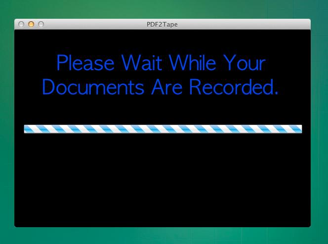 PDF2Tape recording